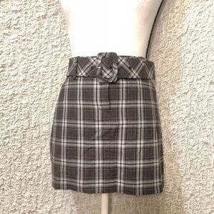 Express plaid mini skirt